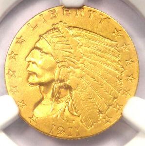 1911-D Indian Gold Quarter Eagle $2.50 Coin (Weak D) - NGC AU Detail - Key Date!
