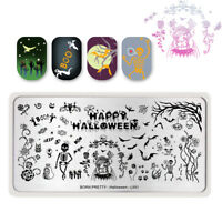 BORN PRETTY Nail Stamping Plate Manicure Template Image Halloween Skull Pumpkin