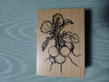 PSX Rubber Stamp ~ 1995 RADISH BUNCH F-1400 in EUC