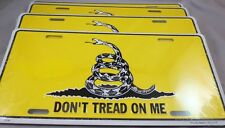 WHOLESALE LOT 12 GADSDEN DON'T TREAD ON ME LICENSE TAGS TEA PARTY Made in USA US