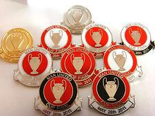 MAN UNITED CHAMPIONS LGE FINAL 2011 BADGE / FOOTBALL BADGE