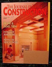 2003 JLC Journal of Light Construction February FRAME & PANEL TRIM ENTRY DOOR