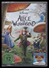 DVD ALICE IM WUNDERLAND - TIM BURTON - JOHNNY DEPP *** NEU ***