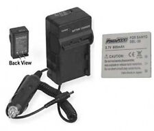 Battery +Charger for Sanyo VPC-CA8EX VPCCA8EX VPC-CA8GX