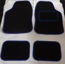 MERCEDES A140 B180 C180 C180K C200 C220 CLK320 Car Mats Black with Blue trim