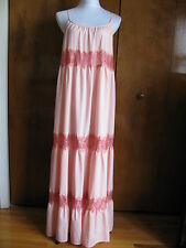 Free People rose lace trimmed adjustable straps maxi NWT dress xsmall runs big