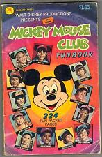 MICKEY MOUSE CLUB FUNBOOK 11190 3.5 SUPER COMPLETE 1977 NICE COVER