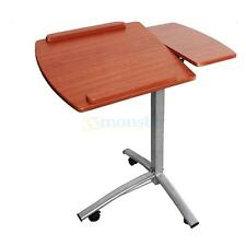 New Adjustable Laptop Notebook Desk Table Stand Holder Swivel Home Office Wheels
