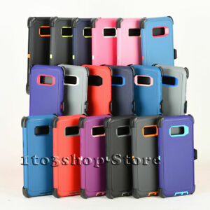 For Galaxy S8 / S8+ Plus Defender Shockproof Hard Case Cover w/Holster Belt Clip