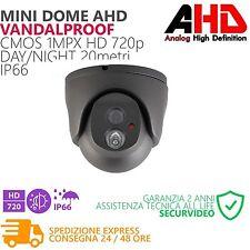 TELECAMERA VIDEOSORVEGLIANZA HD AHD DOME ANTI VANDALO 1MPX DAY NIGHT 20M IP 66