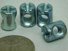 "4 Pack! 1/4""-20 Thread Cross Dowel Barrel Nuts 3/8"" Dia x 1/2"" High Die Cast LD"