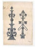 Acquerello 1909 ornata-lavori in metallo-FERRAMENTA-cerniere