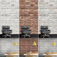 3D Brick Effect Wallpaper Slate Stone Realistic Textured Vinyl Vintage Grandeco