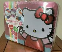 Hello Kitty's 40th Anniversary Carry Case w/Mini Figures, Cards, Tin Lunchbox