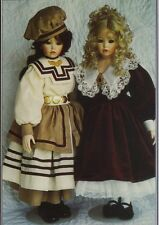 """Doll clothes SEWING PATTERN fits 20 -21 """"dress and hat outfit 1417"""