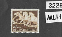 #3228  MLH stamp Sc B205 1942 Brown Ribbon Horse race Third Reich Munich Germany