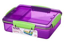 Sistema 975ml Multi Compartment Snack Attack Duo Lunch Box Container Purple