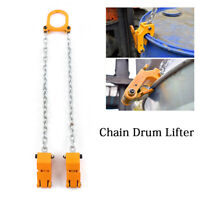 2000 lbs 1Ton Capacity Chain Drum Lifter Steel Fiber Vertical Drum Lifter Yellow