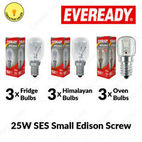 3 X Oven Bulb Fridge Appliance Light Himalayan Salt Lamp 25W Pygmy E14 Screw SES