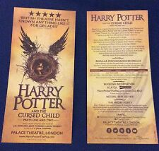 Harry Potter Cursed Child stage play, London flyer