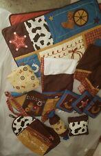 12 Piece Geenny Cowboy Western Themed Baby Nursey Bed Set Great Condition!
