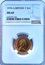 More details for 1976 great britain gold sovereign elizabeth ngc ms64 uncirculated