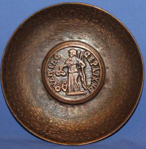 Vintage Greek wall decor copper bowl