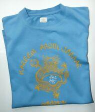 OFFICIAL VINTAGE ADIDAS KAREEM ABDUL -JABBAR T SHIRT  SKY BLUE   M / L BRUCE LEE