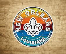 "3"" New Orleans Decal Louisiana Mardi Gras Fleur De Lis Sticker"