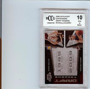 2009-10 CONTENDERS DRAFT TANDEMS STEPHEN CURRY WARRIORS RC BCCG 10 NOT BGS 9.5