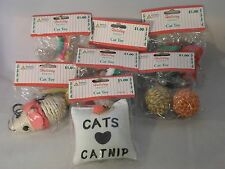 Christmas Cat Toy Kitten Balls Nip Mice Lot Of 7 New Toys Usa Seller Quick Ship