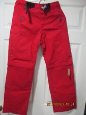 GAP+SNOW PANTS+RED+ KIDS SIZE XXL (14-16)+NEW+ADJUSTABLE BELT+CONVERTIBLE LEGS