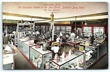 Postcard NC Charlotte Interior Jordon's Drug Store 1908 Mini Ferris Wheel F05