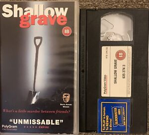 SHALLOW GRAVE-VHS VIDEO SMALL BOX.
