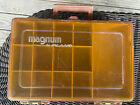 Vintage Magnum By PLANO Double Sided Portable Fishing Tackle Box 12 X 8 X4