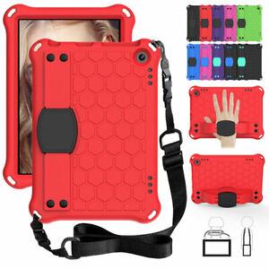 Bumper Rubber Case For Amazon Fire HD 8 10th Gen / 8 Plus 2020 Armor Strap Cover