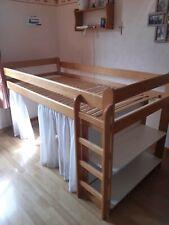 Lit Simple Mezzanine pour Enfants, en bois, bon état