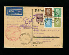 Zeppelin Sieger171B 1932 5th SouthAmericaFlightGermanyPost on card toArgentina
