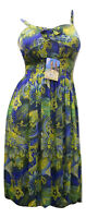 Women's Dress Spaghetti Strap Smocked-Elastic-Waist Floral Multi-Color Size M