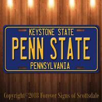 Penn State University College Pennsylvania State Aluminum License Plate Blue