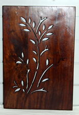 Placa De Pared De Madera Tallado Indio (A) decoración diseño de sucursal mangowood hecho a mano