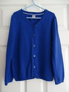 Girl's Royal Blue Scalloped Cardigan from TU at Sainsburys Age 8 Years