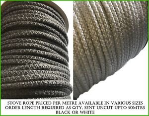 Stove Rope, Gasket, Seal for Flues, Woodburners, Stove Doors & Glass Fire Seals