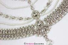 silver Matthapatti Damini Headpiece Jhoomar Hijab Head Wedding Bridal Indian