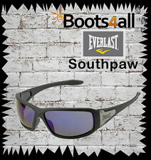 New Everlast Eyewear Safety Sunglasses Blue Mirrored Lens  UV 400 Southpaw