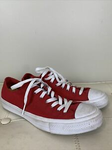 Converse Chuck Taylor All Star II Sneakers w/ Lunarlon Red Mens 10 Womens 12 EUC