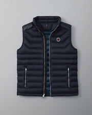 NWT 2016 Abercrombie & Fitch A & F Lightweight Down Puffer Vest Jacket Navy L