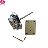 La Gard 3 Wheel Dial & Ring Mechanical Combination Lock For Safe, Satin Chrome