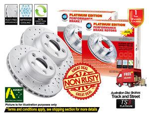 FOR AUDI TT 8N 1.8L Turbo 232mm 99-06 REAR SLOTTED DRILLED Disc Brake Rotors (2)