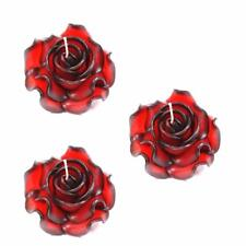 Pack Of 3 Large Rose Two Tone Red Candles for weddings / parties /etc